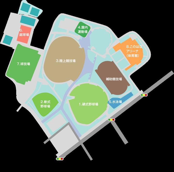 草薙運動場map